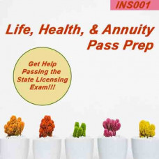 All States: Life Health & Annuity Insurance Pre-licensing Cram Course and Flash Cards Pass prep