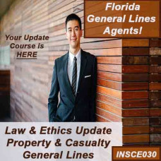 Florida: 2021-2022 5hr Property & Casualty Law and Ethics update Package - for 2-20, 4-40, and 20-44 agents - 7hrs includes 5 hr CE 05220 Law and Ethics update and and 2 hours CE 0220 General Lines general elective credits (INSCE030)